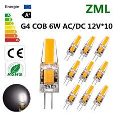 10pcs G4 LED 6W 12V AC/DC COB Cold white Light High Quality Lamp Bulb Dimmable