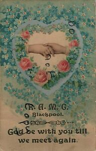 WW1 military Patriotic hands across the ocean Royal Army Medical Corps Blackpool