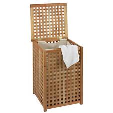 Wäschetruhe Walnuss mit Deckel incl.Wäschesack Wäschesammler Wäschekorb Holz
