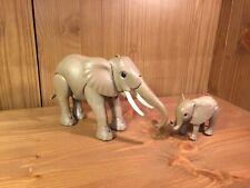 Playmobil Zoo, Elefant & Baby Elefant, altes Modell (04621)