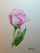 Contemporary Art/ Original Painting by American Artist M.hee /Pink Rose