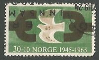 Norway Scott# B66 Severed Chain & Dove, Anniv Liberation from Germans, Used 1965