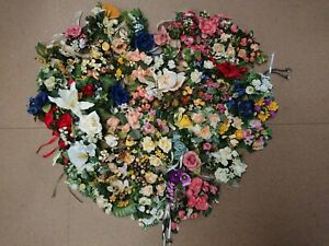 100 Job Lot Wholesale Mixed Artificial Flowers Candle Rings Rose Heads crafts