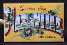 "Greetings From Nashville Vintage Postcard 2"" X 3"" Fridge / Locker Magnet."