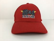 M&A Electric Adult Fitted M-L New Era Red Baseball Cap Hat