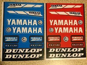 Yamaha 2 Pack stickers 2xRED decals graphics Sheet waterproof motocross Mx DTR