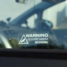 Warning On Board Camera Recording Car Window Truck Auto Vinyl DIY Sticker Decor