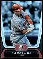 2012 Bowman Platinum Albert Pujols Angels #68