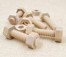 Educational wooden Screw Nut Assembling Wooden Toy Solid Hands-On