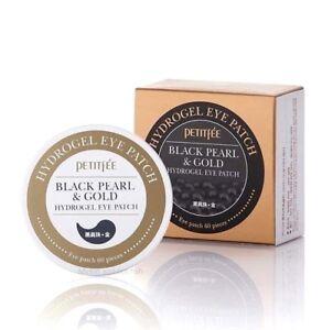 PETITFEE Black Pearl & Gold Hydrogel Eye Patch (x60 pcs) - *UK Seller*