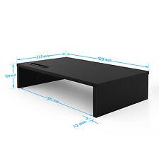 Wood Monitor Stand Speaker TV PC Laptop Computer Screen Riser Desk Storage Black 42cm(w) 1 Tier