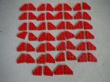LEGO BULK LOT 52 RED WEDGE WING PLATE CUT CORNER 3X3 #2450