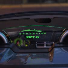 Mopar Licensed Chrysler Crossfire Wind Deflector WindRestrictor brand lighted
