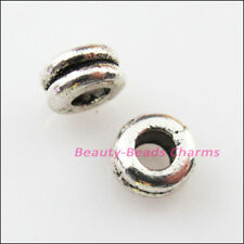 25Pcs Tibetan Silver Tone Tiny Round Spacer Beads Charms 6mm