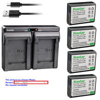 Kastar Battery Dual Charger for Canon LP-E10 LC-E10 & Canon EOS Rebel T6 Camera