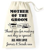 Personalised Wedding Day Gift Bag Mother of the Groom Present Vintage