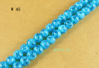 200Pcs 4mm Blue Lampwork Glass Spacer Loose Beads DIY Craft W45