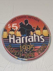 HARRAHS $5 Casino Chip Reno Lake Tahoe Nevada 3.99 Shipping
