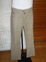 Pantalon lin/coton beige stretch PIERRE CARDIN W34 L34 42FR 19ET16