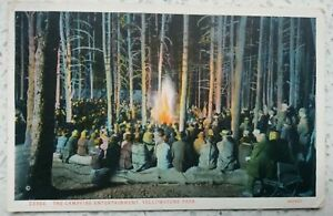 Campfire Entertainment Yellowstone Park, Haynes Picture Shops 23364 1930