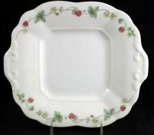 Wedgwood RASPBERRY Square Handled Cake Plate Vintage GREAT CONDITION