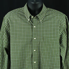 Lyle & Scott Mens Size Extra Large Shirt Long Sleeve Green Checks Button Down
