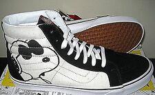 Vans x Peanuts Sk8-Hi Mens Joe Cool Black White Skate Shoes Boots Size 13 NWT