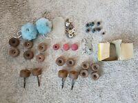 Vintage Lot of Roller Skate Bearings Wheels Accessories