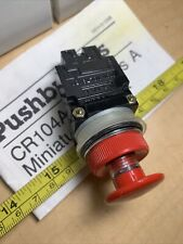 Ge Cr104a3123 Red E Stop Momentary Pushbutton 1 Nc Contact Mini Mushroom 22mm