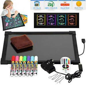Sensory LED Light Up Drawing Writing Board Special Needs Toy Autism ASD ADD ADHD