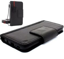 Genuine leather case for Samsung Galaxy S9 Magnetic Card slots holder slim black