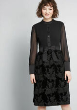 MODCLOTH  X ANNA SUI DRESS  VINTAGE INSPIRED ENIGMATIC MOOD  BLACK