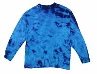Blue Electro Tie Dye Long Sleeve T Shirt New Never Worn USA Made