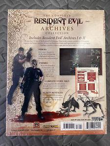 Resident Evil Archives Vol. I & II (1 & 2) Books Rare BradyGames Capcom Sealed!