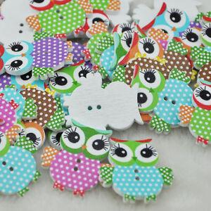 50pcs Mix Color Baby Owl Birds Carton Baby Sewing Craft Scrapbooking WB84