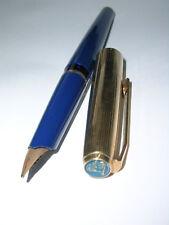 1968 Pelikan Patronenfüller P30 14 Karat Goldfeder Kappe doublé Hülse blau