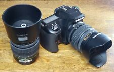 Pentax K100D SLR Digital Camera Good Condition with 2 Lenses and Bag