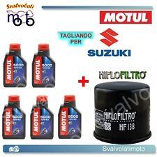 TAGLIANDO FILTRO OLIO + 5LT MOTUL 5000 10W40 SUZUKI VS INTRUDER 1400 1997