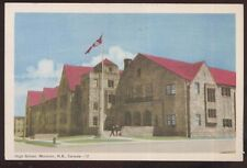 Postcard MONCTON New Bruswick/CANADA  High School Building view 1940's