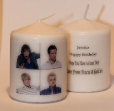 Photo image personalised candle gift any occasion great for fan of McFly #1