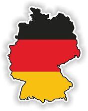 Germany Map Flag sticker SILHOUETTE BUMPER DECAL Aufkleber Deutschland Allemagne