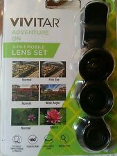 Vivitar 3-IN-1 Mobile Lens Set For Mobile Accessories ~ NEW