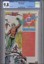 Who's Who #1 CGC 9.8 1985 A DC Comic: Aquaman Wrap-a-round Cover : New Frame