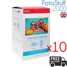 10X RP 108IN KP 108IN Compatible 4x6 Ink & 108 Paper Set for CP1200 CP1000 CP910