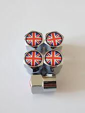 5 X Válvula De Unión Jack Cromo Coche Rueda de Aleación Polvo Tapas todos los modelos Lotus Honda Jag