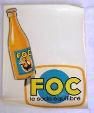 Décalcomanie SODA FOC équilibré Brasserie AMOS METZ PHOQUE Barman serveur bistro