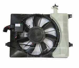 TYC 624150 Dual Rad&Cond Fan Assy for Kia Forte 2017-2018 Models
