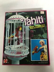 Vintage 1985 Tahiti Barbie Doll's Pet Bird With Cage #2064 New Sealed