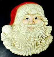 Vintage Atlantic Mold Ceramic Santa Claus Head Wall Pocket Mold 407
