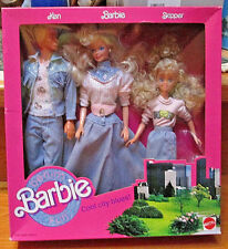 "1989 NEW *DENIM FUN*~""Cool City Blues""~MIB~KEN-BARBIE+SKIPPER COMPLETE SET~#4893"